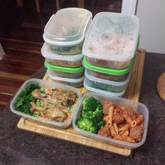 Meal prep for another busy week Meal 1 -Oven Cook Chicken Drumsticks  Cooked in Satay Sauce Coconut Cream  Mixed Spices & Coriander. Rice and Quinoa with Peas Carrots & Green Onion and Kale  Meal 2 - Spag Bowl- Garlic Onion Tomatoes Tomato and Basil Sauce with Broccoli. #mealprepsunday #meal #mealprep #mealprepdaily #foodislove #foodporn #dinner #lunch #healthyfood #healthy #healthyeating by silenceunbroken