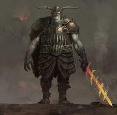 Ogre Champion, Nils Hamm on ArtStation at https://www.artstation.com/artwork/2Y1ze