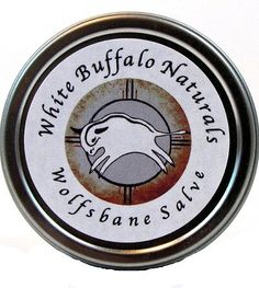 Wolfsbane Salve, great for sore muscles, strains, chronic injuries and bumps and bruises