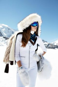WHITE CHIC - Plan a ski trip for her, or course, buy the outfit!