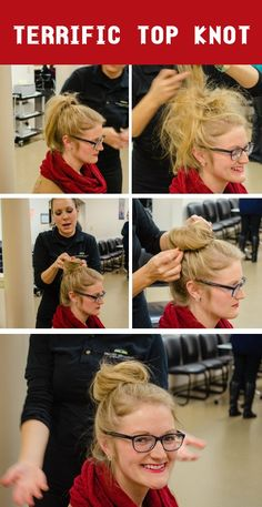 How to get a perfect top knot. #hair #topknot