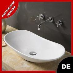 Aufsatz-Becken Keramik Rea ROYAL 60, 70 Oval Bad 145 mm 620 mm 725 mm