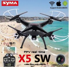 Original Black SYMA X5SW-1 WIFI RC Drone Quadcopter Helicopter with FP – Bluetoothspeakerplus-General
