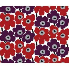 Marimekko Pieni Unikko x Floral Wallpaper Color: Purple / Red Wallpaper Color, Marimekko Wallpaper, Graphic Wallpaper, Nature Wallpaper, Wall Wallpaper, Pattern Wallpaper, Iphone Wallpaper, Moomin Wallpaper, Kitchen Wallpaper