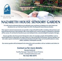 It is with much excitement that we are asking for your assistance in helping us to raise funds and donations for the Frail Care project for 2016. We are planning to design and plant a sensory garden for all our residents and visitors to enjoy!