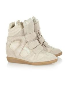 check out 5cbb0 8c045 Isabel Marant The Bekkett Suede and Leather High-Top Wedge Ayakkabı   isabelmarant  isabelmarantbot