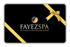 Black & golf gift card with ribbon for Fayez Spa Golf Gifts, Spa, Personalized Items, Gift Cards, Ribbon, Image, Black, Gift Vouchers, Tape