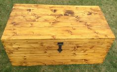 Wooden chest rustic coffee table shoe storage