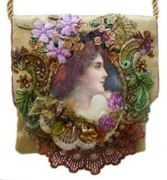 Embroidered Purse with Photo Transfer