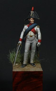 Conversion of Metal Models by ariano Numitone Painter: Alfonso De Negri Scale: 54 mm Military Figures, Military Art, Virtual Museum, French Army, Metal Models, Napoleonic Wars, Empire, Scale Model, Arrow Keys