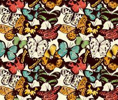 Butterflies fabric by keys on Spoonflower - custom fabric