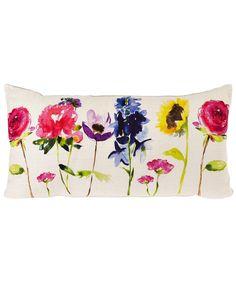 flower watercolor cushion
