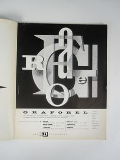 "https://flic.kr/p/bLiuwM | For 3D Typography. Graforel ad by Jacques Nathan, 1957. | Ad appeared in Graphis #70, 1957  The image is signed ""nathan"", which refers to Jacques Nathan-Garamond, (also known simply as Jacques Nathan), an established French poster artist, and one of the original founders of AGI.  More of Nathan's work at <a href=""http://www.moma.org/collection/artist.php?artist_id=4236"" rel=""nofollow"">MoMA</a>. Bio on AGI's website: <a…"