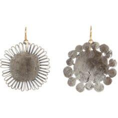 Silver Flowery Earrings