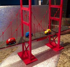 School project. Build Golden Gate Bridge. Think we nailed it!