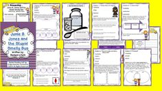 This guided reading unit is set up with before/during/after activities and vocabulary for each chapter.  Skills include making predictions, visualizing, problem and solution, summarizing, character traits, citing text evidence, author's purpose, making comparisons and connections, and drawing conclusions. Group discussion is encouraged throughout the reading of the book.  Junie B is loved by every beginning reader and are just plain fun.