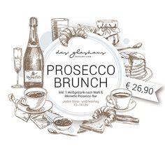 Prosecco Brunch | DAS GLASHAUS - Restaurant & Bar | Wien Restaurant Bar, Mionetto Prosecco, Brunch, Lunch Time, Jewelry, Glass House, Holiday, Clock, Schmuck