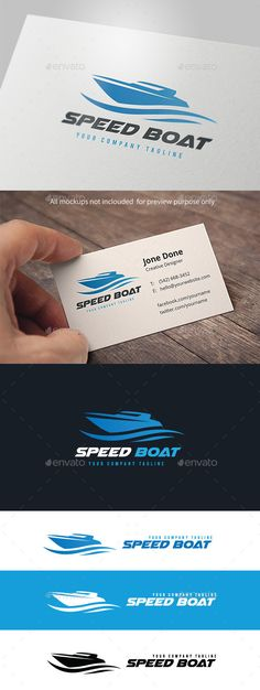 Speed Boat - Logo Design Template Vector #logotype Download it here: http://graphicriver.net/item/speed-boat/11104558?s_rank=1519?ref=nesto