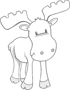 moose coloring page | Too freaking cute! | Graphics/Templates