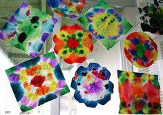 tie dye window art