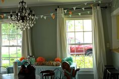 tissue paper pennant banner. this blog has really adorable ideas!