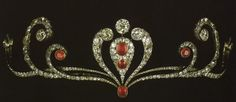 Antique Tiara (ca. 1870; rubies, diamonds).