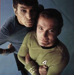 Spock and Kirk. The original bromance.