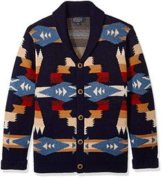 Shop a great selection of Pendleton Men's Tuscon Cardigan Sweater. Find new offer and Similar products for Pendleton Men's Tuscon Cardigan Sweater. Long Sleeve Sweater, Sweater Cardigan, Men Sweater, Aztec Cardigan, Sweater Fashion, 70s Fashion Pictures, Mens Clothing Styles, Outfits, Sweaters