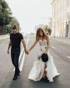 Dream Wedding Dresses, Lace Wedding Dress, Bridal Dresses, Wedding Gowns, Bridesmaid Dresses, Biker Wedding Dress, Cute Wedding Ideas, Wedding Pics, Boho Wedding