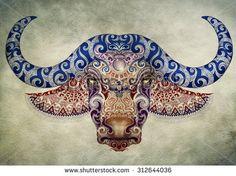 Cape Water Buffalo Tattoo - Google Search