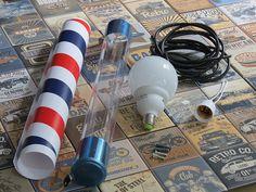 Materiais necessários para personalizar um poli poste barbearia