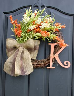 Door Wreath  wreath  Floral Wreath  Summer Wreath by OurSentiments, $65.00