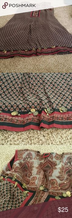 Indian style Dress with Gold detail So pretty. The details on this are great. Not heavy. Very beautiful! Dresses Mini