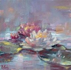 credit card numbers that work Your place to buy and sell all things handmade Water lilies painting original art of flowers lily lotus miniature Water Lilies Painting, Lotus Painting, Lily Painting, Oil Painting Flowers, Painting & Drawing, Monet Water Lilies, Halloween Kunst, Original Art, Original Paintings