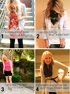 Maximizing your wardrobe aka how to make summer/spring clothes work in fall/winter.
