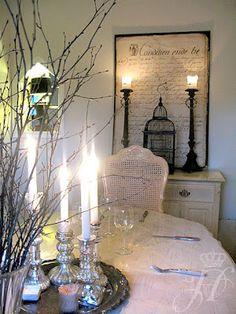 elegant dining arrangement