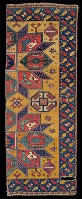 Batári - Crivelli carpet fragment, Iparművészeti Múzeum, Museum of Applied Arts, Budapest, 15th century, Ottoman Turkey