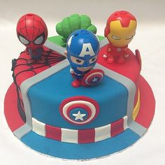 Why limit your cake to one hero? Source: Instagram user kueimut