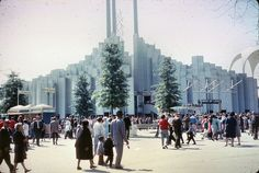 Found Photo - NY Worlds Fair by jeffs4653,  Tower of Light designed by architect TC Howard of Synergetics, Inc