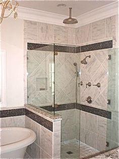 Bathroom tile design by Annah Hill of Nonn's Design Showplace.