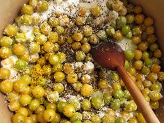 ground cherry preserves with citrus and chai spices.