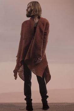 fashion designer sruli recht of iceland features leather made from dolphin skin, fabric woven from horse hair and silk extracted from a spider's gland implanted in a goat.