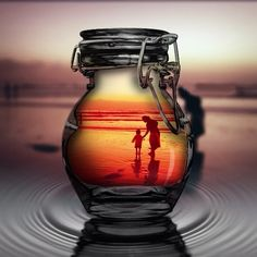 the world behind a glass bottle Glass Photography, Creative Photography, Nature Photography, Beautiful Nature Wallpaper, Beautiful Images, Magic Bottles, Dope Wallpapers, Dark Art Drawings, Image Fun