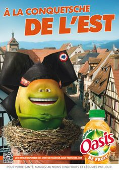 """Oasis new poster campaign: """"Be Fruit"""""""