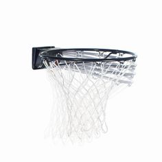 """Spalding Pro Slam Basketball Rim, Black. 5/8"""" heavy duty solid steel 1/2"""" support arms ultra smooth spring action pro style cover white all-weather net. 5/8"""" heavy duty solid steel. Ultra smooth spring action and pro style cover. White all-weather net. 5 year limited warranty."""