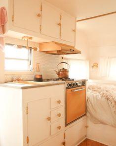 vintage+camper+renovation+kitchenette pixels – Famous Last Words House, Small Spaces, Home, Remodel, Vintage Camper Interior, Van Home, Renovations, Vintage Camper Remodel, Camper Living