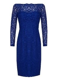 Almost Famous Scalloped Lace Dress in Blue £179