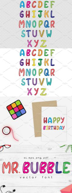 Cute Bubble Vector Font Cute Fonts, Wall Art Designs, Creative Words, Shirt Designs, Bubbles, Notes, Letters, Make It Yourself, Feelings