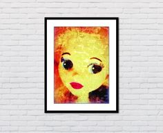 Close Up Retro Poster Fine Art Print Giclee OOAK by ADollysWorld, kr55.00