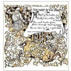 The Hart & The Vine from The Baby's Own Aesop by Walter Crane